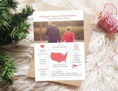 Year in Review Christmas Card DIY Printable or by graphiquebazaar, $0.92