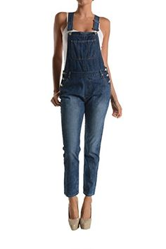American Bazi Women's Classic Long Overalls RJHO170 - BLUE - D9E * CHECK OUT @ http://www.passion-4fashion.com/clothing/american-bazi-womens-classic-long-overalls-rjho170-blue-d9e/?b=9671