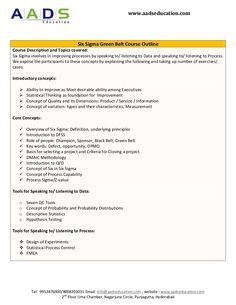 Six Sigma Green Belt Training and Certification by Abdul Ghani via slideshare