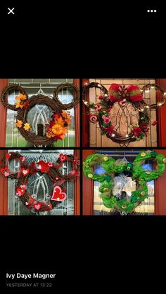 DIY Christmas wreaths for front door - DIY cuteness - Christmas ideas - # . DIY Christmas wreaths for front door – DIY cuteness – Christmas ideas – # for Disney Diy, Casa Disney, Deco Disney, Disney Home Decor, Disney Crafts, Disney House, Diy Christmas Decorations For Home, Christmas Wreaths For Front Door, Christmas Door
