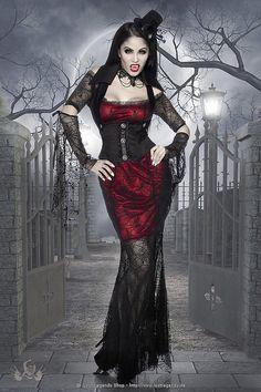 Vampire Costume 11847 - www. Vampire Costume Women, Vampire Costumes, Female Vampire, Gothic Vampire, Vampire Art, Goth Beauty, Dark Beauty, Sexy Vampirkostüm, Manga Girl