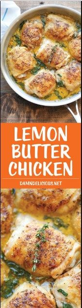 Lemon Butter Chicken - Easy crisp-tender chicken with the creamiest lemon butter sauce ever - you'll want to forget the chicken and drink the sauce instead! Damn Delicious is the best! I Love Food, Good Food, Yummy Food, Tasty, Food Dishes, Main Dishes, Great Recipes, Dinner Recipes, Special Recipes