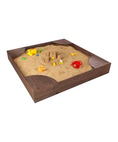 Look at this Espresso Backyard Sandbox on #zulily today!