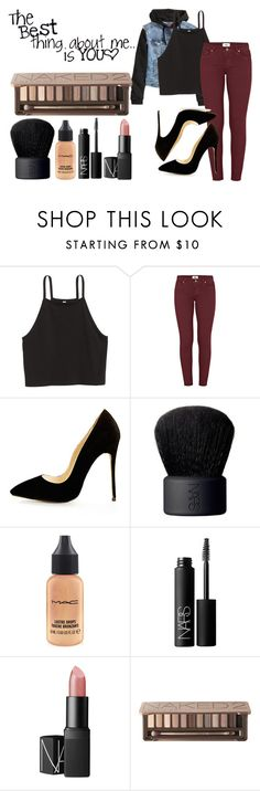"""""""The Best thing about me isyou"""" by nat-nat123 ❤ liked on Polyvore featuring H&M, Paige Denim, NARS Cosmetics, MAC Cosmetics, Urban Decay and F"""