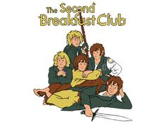 The Second Breakfast Club / Lord of the Rings - Hobbit inspired t-shirt. $15.99, via Etsy.