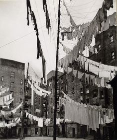 Court of first model tenement house in New York, 72nd Street... 1930s