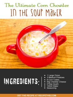 Welcome to my ultimate corn chowder recipe in the soup maker. It wasn't until I first discovered Pinterest a few years ago that I actually heard of corn chowder. It is a traditional soup from New England and as a non-American I had heard of it in the movies but never actually knew what it …