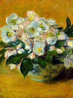Christmas Roses by Claude Monet..