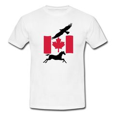 Freedom in Canada - beautiful shirts and gifts  for all Canada and wild animals fans. #canada #canadian #shirts #gifts #country #wild #animals #flag #america