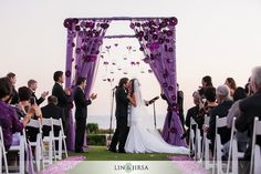 <3 the creativity that went into the arch.  #purple wedding.
