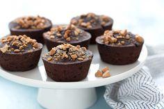 Hungry Girl's Healthy Flourless Mini PB Chocolate Cakes - 3 sp / 1 cake (1/8 of recipe)