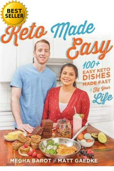 Keto Made Easy by Megha and Matt from Keto Connect. They believe everything can be made keto. Scroll down the Keto Launches page on Essential Keto for this book launch and many more. Keto Diet Plan, Paleo Diet, Keto Foods, Diet Plans, Easy Keto Meal Plan, 7 Keto, Keto Fat, Keto Snacks, Best Cookbooks