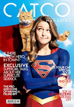 Catco Magazine - Supergirl & Supercat