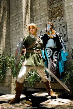 Link and Midna from The Legend of Zelda: Twilight Princess.