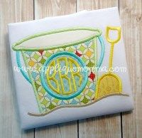 Sand Bucket 2 Applique Design