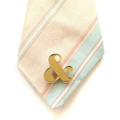 #Custom #Wedding Ampersand Acrylic Tie Tack by plastique | Hatch.co