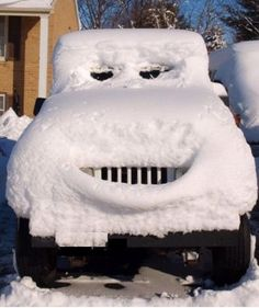 Snow jeep can't wait until spring.