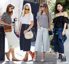 How to Wear Culottes for Summer - Blue is in Fashion this Year
