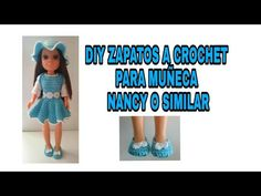 Realización de unos zapatitos a crochet o ganchillo para muñeca Nancy o similar. Vestidos Nancy, Crochet Diy, Barbie And Ken, Barbie Dress, Doll Clothes, Crochet Patterns, Dolls, Youtube, Handmade