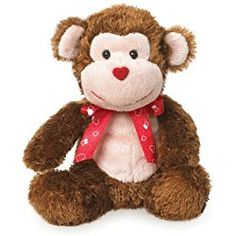 Boyds Bears Valentine's Day Plush Love Buddies - Smooches Monkey - 6""