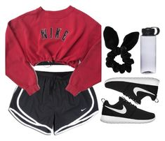 A fashion look from March 2018 featuring nike tops, nike shorts and sports bra. Browse and shop related looks. Swag Outfits For Girls, Teen Girl Outfits, Sporty Outfits, Cool Outfits, 80s Fashion, Cute Fashion, Fashion Outfits, Petite Fashion, Modest Fashion