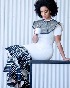South African Fashion, African Fashion Designers, African Inspired Fashion, Latest African Fashion Dresses, African Print Dresses, African Dress, South African Traditional Dresses, Traditional Dresses Designs, African Traditional Wedding