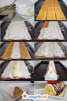 Piramit Pasta Yapılışı Beautiful Cakes, Cupcake, Pizza, Sweets, Desserts, Cakes, Ideas, Pretty Cakes, Cake Art