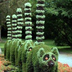 Topiary sculpture-Jardines- flores y paisajes Amazing Gardens, Beautiful Gardens, Beautiful Flowers, Beautiful Gorgeous, Montreal Botanical Garden, Botanical Gardens, Deco Floral, Arte Floral, Topiary Garden