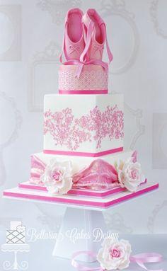 Beautiful ballerina cake.
