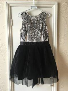 Lipsy V.I.P. white and black prom wedding evening party dress size 14