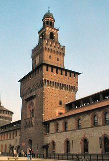 Sforza castle, Milan 14th century
