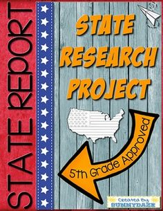 State report project template plus posters for all 50 states!*** Save over 25% by purchasing this resource in a BUNDLE! ***This resource includes everything you will need to seamlessly implement a state report project in your classroom.  The template will work with any state that a student is researching.