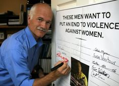 Good photo and message...men let's get on board with the White Ribbon Campaign w/ Jack Layton.