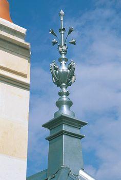 zinc finial by Dormer Roof, Decoration, Home Goods, Home Improvement, Bulgarian, Architecture, Lighting, Decor, Arquitetura