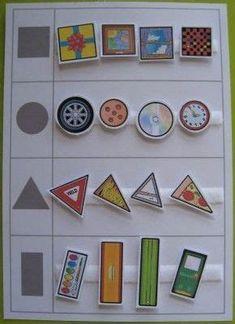 Preschool Classroom, Preschool Learning, Kindergarten Math, Teaching, Autism Activities, Educational Activities, Preschool Activities, Preschool Shapes, File Folder Activities