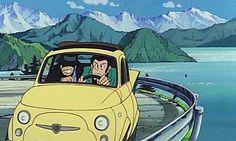 Lupin III: Arsenio Lupin III y Daisuke Jigen en un Fito (Fiat 500)