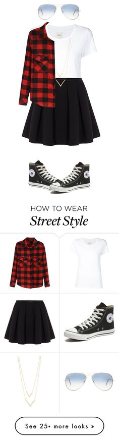 """""""Street Style"""" by izzy9282003 on Polyvore featuring Ray-Ban, Max 'n Chester, Polo Ralph Lauren, Jennifer Zeuner and Converse"""