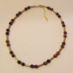 Colar olho-de-tigre I Tiger-eye necklace I