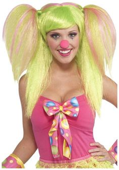 Quit clowning around and buy this Lollipop Lilly Wig! It's the perfect headpiece for a budding prankster!