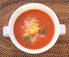 Homemade tomato soup -I made this for dinner tonight and it was excellent! Used vegetarian bullion and 1/2 of the butter