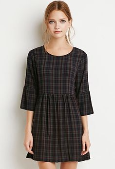 Plaid dress best outfits - cute dresses outfits - - Plaid dress best outfits Source by workoutfitscom Cute Dress Outfits, Cute Dresses, Casual Dresses, Cool Outfits, Dresses With Sleeves, 21 Dresses, Plaid Dress, Dress Skirt, Forever 21
