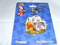 Disney * POOH & FRIENDS MEDAL & PIGLET PIN * Pin Trading Lanyard Medal & Pin Set
