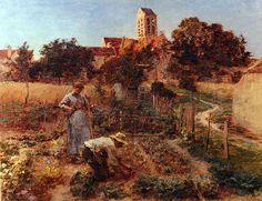 Léon Augustin Lhermitte - In the Garden.jpg