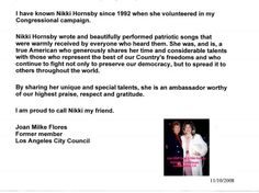 nikki hornsby | ... below more letters of recommendation for nikki hornsby are found below
