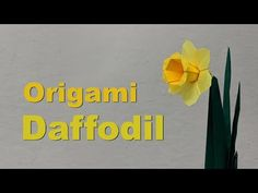 Easter Origami Tutorial: Daffodil / Narcissus (Assia Brill) - YouTube