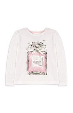 0f87cf66179485 Primark - Wit meisjesshirt met parfumflesopdruk Overnachten
