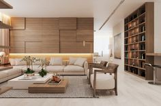 Modern Apartment in Moscow with Wood as a Central Element/ SEE MORE AT: http://modernhomedecor.eu/modern-furniture/cozy-modern-apartment-moscow-wood-central-element/