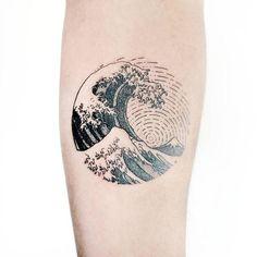 Výsledek obrázku pro татуировка волна