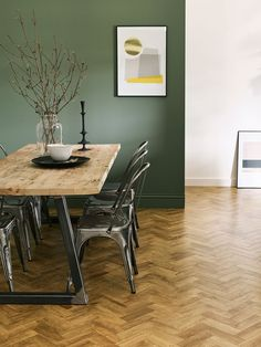 Amtico Form Rural Oak in Parquet laying pattern Oak Parquet Flooring, Engineered Hardwood Flooring, Kitchen Flooring, Flooring Tiles, Hallway Flooring, Floor Design, Tile Design, Kitchen Vinyl, Kitchen Decor