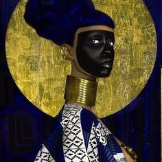 lina viktor, blue & gold